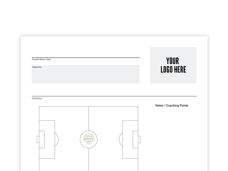 Custom practice sheet with your own logo.