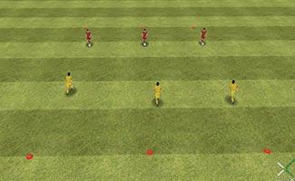 1 vs. 1 Ladder - 1 on 1 U8 soccer drill