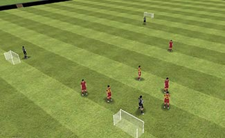 4 Goal Game with Goalkeepers - U10 Soccer Small Sided Game