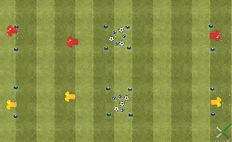 Empty the Bucket - Soccer Drill and Relay Race for Kids