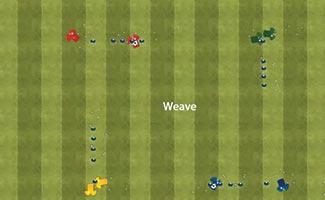 Four Square Dribbling Series - U10 Soccer Passing Drill