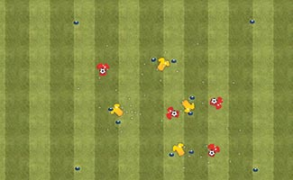 Multiple Goals - Soccer Dribbling Game