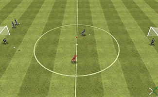 One pass shootout - soccer shooting game