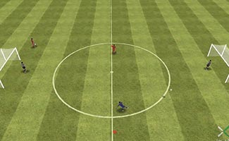 rapid fire receive - soccer shooting drill