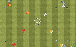 Robin Hood soccer dribbling game and activity
