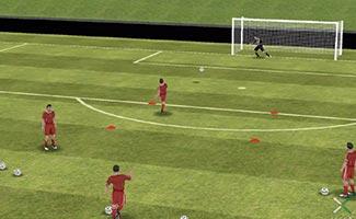 Shooting box - soccer shooting drill
