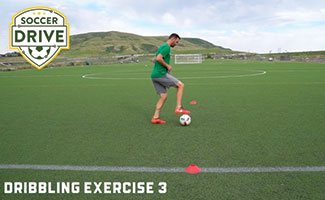Bobby Burling doing lateral rolls with soccer ball