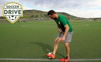 Bobby Burling demonstrating the chop, soccer turning technique