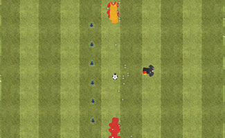 Wall Passes Under Pressure - Soccer Passing Drill.