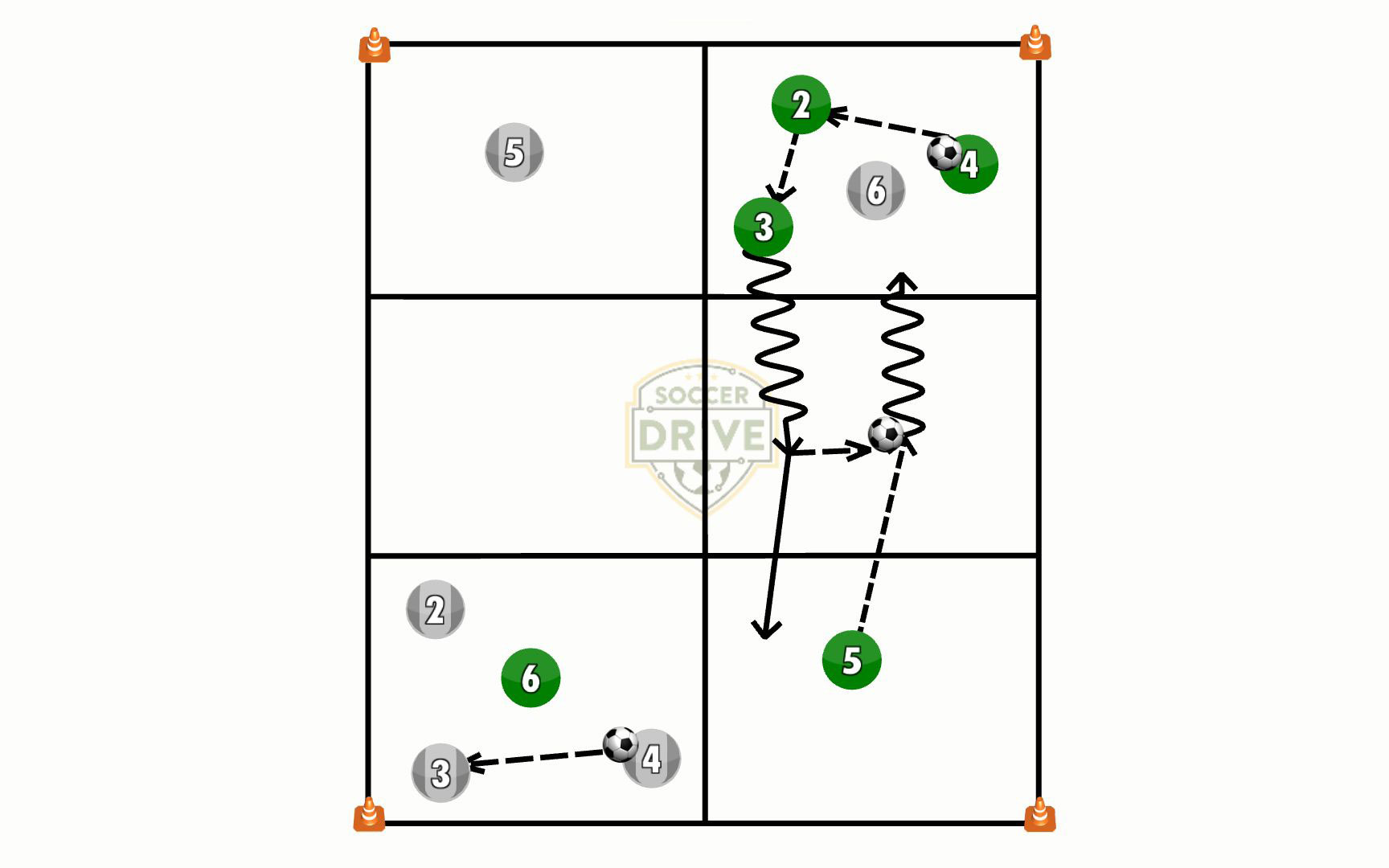 Dribble Into Space Soccer Activity