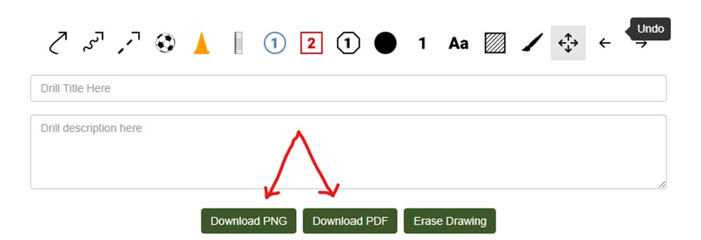 Save your diagram as a png or pdf file to create a progression or sequence of soccer drills.