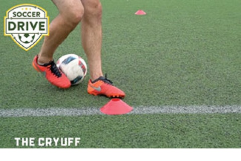 The Cryuff, soccer turning exercise