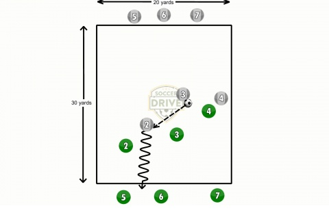 Multi Team Endzone Soccer Activity