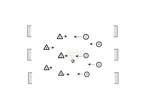 Any Three Goals - Small sided soccer game
