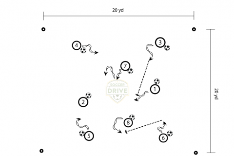 Controlled Craziness - U8 soccer dribbling drill