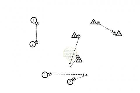 Soccer Marbles - Soccer Passing Drill for U6 and U8