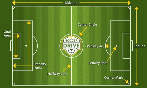 Soccer Field Diagram with Lines