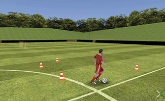 Control Burst Dribbling Relay - soccer relay race