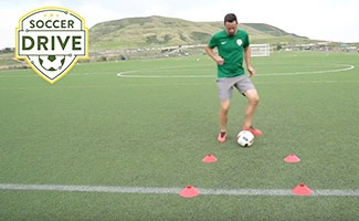 First Touch Soccer Drill: Trap, Roll, and Play
