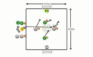 High Tempo 2 vs 2 Soccer Game