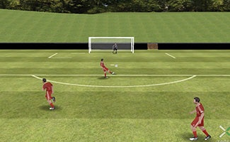 Quick soccer passing drill.
