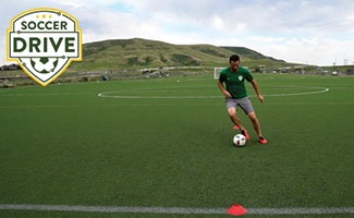 Soccer Dribbling Exercise - Inside Outside Touches with Both Feet
