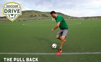 The pull back soccer turning skill