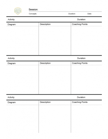 Soccer Practice Planner - List View