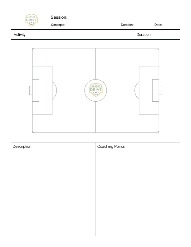 Soccer Practice Sheet - One Field