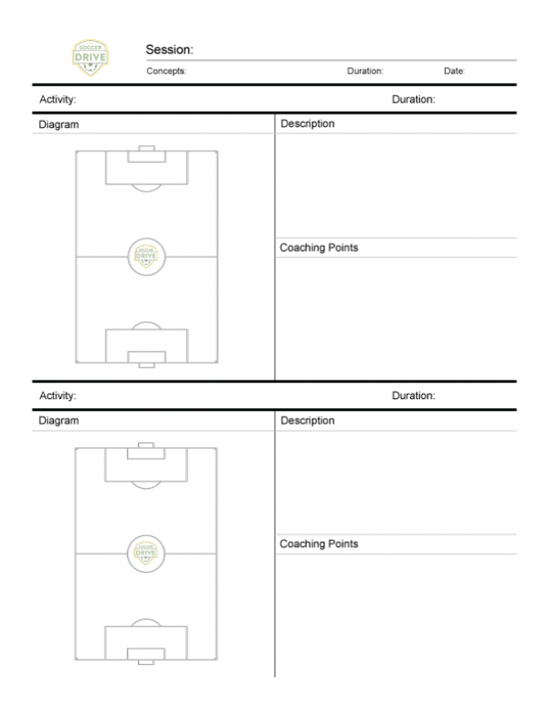 Soccer Practice Sheet - Two Full Fields
